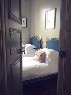 These beds - Pied-à-Terre, Arrondissement - guest room Beautiful Paris, Paris Images, Arrondissement, Paris Apartments, Dream Vacations, Guest Room, House Plans, Antiques, Beds