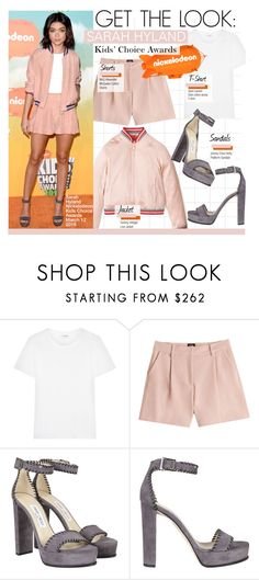 """Kids' Choice Awards 16 -Sarah Hyland"" by kusja ❤ liked on Polyvore featuring Yves Saint Laurent, McQ by Alexander McQueen, Jimmy Choo, Nickelodeon, GetTheLook, RedCarpet, celebstyle, kidschoiceawards and sarahhyland"