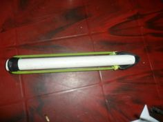Survival spear shooter / pocket sling bow made with pvc pipe and rubber tubing