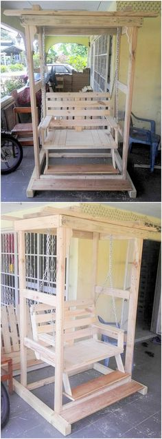 You want swing fir your house and you are out of budget then simply make it at your home by spending some time but your time will be really precious for your budget and feeling. Just take idea of stacking pallets by the image make your own wooden pallet swing now.