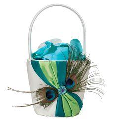 Peacock Flower Basket