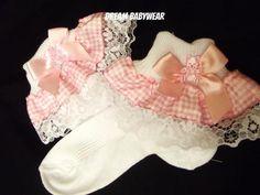 Dream 6 24 Months Girls Romany PK Gingham Teddy Frilly Socks 3 5 Shoe Size | eBay