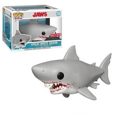 This is a Jaws POP Great White Shark Vinyl Figure Set produced by the good folks over at Funko. This figure looks great in its Funko POP form! Recommended Ages: Condition: Brand New Dimensions: X 1 Funko Jaws POP Great White Shark Vinyl Figure Set Funko Pop Dolls, Funko Pop Figures, Pop Vinyl Figures, Jaws Movie, Funk Pop, Pop Toys, Pop Collection, Great White Shark, The Great White
