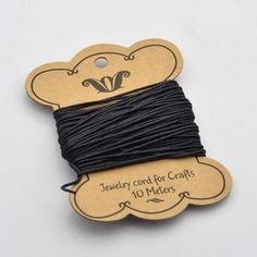 10m Cotton Wax Cord 1mm Black Beading String Thead Craft for Bracelet Necklace