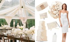 7 Cool Coconut Wedding ideas - YES! coconut, gold, white, champagne colors..