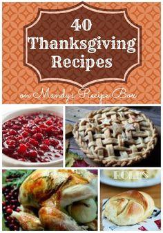 40 Thanksgiving Recipes on Mandy's Recipe Box