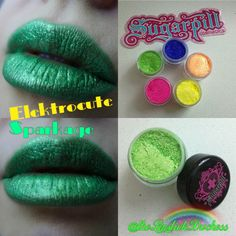 Sparkage Lips Green Lipstick, Orange Lips, Neon Green, About Me Blog, Eyeshadow, Peach, Candy, Cosmetics, Instagram Posts