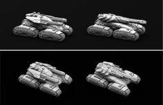 Marhaf Legion Heavy Assault Tank both variants by Hongablaster