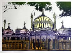 """The Royal Pavilion, Brighton"" by Jackie Field (woodcut)"