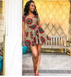 kitenge designs Ankara Short Gown Styles For Pretty Ladies 2019 is an awesome style that is being ladies in the house, especially the slim ones. African Wear Dresses, African Fashion Ankara, Latest African Fashion Dresses, African Print Fashion, Africa Fashion, African Attire, African Clothes, African Style, Vitenge Dresses
