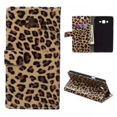 For Galaxy J5 Case Luxury Leopard Wallet Leather Case For Samsung Galaxy J5 J500 Flip Cover With Card Slots Stand Holder