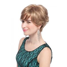 Become the epitome of elegance with this frosted hand tied mono top wig. With this short cut and feathered swoop fringe, your style will know no end.