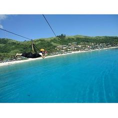 #Zipline over the clear blue waters of #pagudpud . by @shetongnurse #Philippines