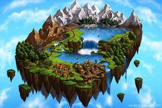 Flying Island Map II by Saarl on deviantART