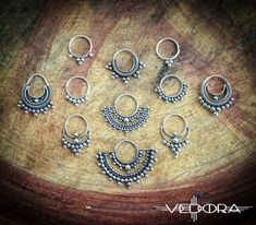 Silver tribal nose ring septum India style jewelry by Vedora