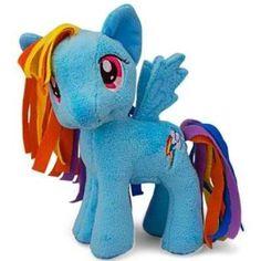 "Amazon.com: My Little Pony Friendship Is Magic 11"" Plush Figure Rainbow Dash: Toys & Games"