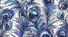 """Swooning over this """"Peacock"""" fabric. Envisioning lots of ways to use it."""