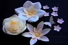 Wafer flores de papel - craftsy Proyecto miembros