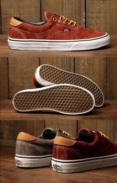 Vans Footwear // Era 59 Shoes - (Pig Suede) Andorra -- The Era 59 with Scotchgard treated pig suede. Durable and resistant to stains and liquid, this Era will last you through the winter and then some. A reverse waffle sole will also give some added traction to boot. - mens shoes discount, mens deck shoes, mens dress shoes cheap