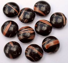 Black And Copper Glass Coin Beads by CrashsCuriosities on Etsy