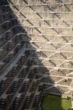 Chand Baori, Abhaneri, India This small village outside the northern city of Jaipur has a concentration of distinctive step wells called baoris, developed for collecting rainwater. Chand Baori is one of the deepest and largest of these wells, with some 3,500 steps that descend 13 stories deep. While it is possible to see down all 13 flights, it isn't currently used as a well as the bottom few stories are gated off. Dating from around the ninth century, this step well is located in front of…