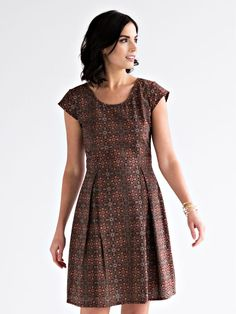 Vintage Pleat dress black | Mata Traders: Ethical Fashion | Made at an artisan cooperative in India!