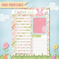 The Polka Dot Posie: Printable Easter Planner Page!