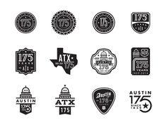 Austin 175th Anniversary Logo Options /// By Steve Wolf