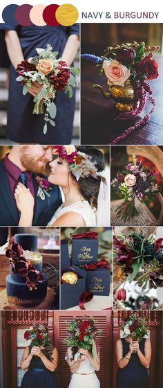 Traditional And Classic Navy And Burgundy Wedding Color Ideas. october wedding colors schemes / fall wedding ideas colors october / fall wedding ideas november / fall winter wedding / fall colors for wedding Trendy Wedding, Perfect Wedding, Our Wedding, Dream Wedding, Wedding Blue, Wedding Summer, October Wedding, Wedding Vintage, Decor Wedding