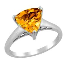 Citrine Solitaire Ring Trillion cut  size 8  Nickel Free Sterling #Unbranded #Solitaire  http://stores.ebay.com/JEWELRY-AND-GIFTS-BY-ALICE-AND-ANN
