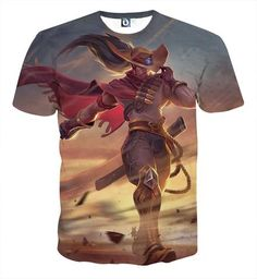 League of Legends High Noon Yasuo The Swordsman Pastel T-Shirt  #LeagueofLegends #High #Noon #Yasuo #The #Swordsman #Pastel #T-Shirt