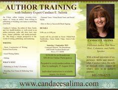 Author Training by Industry Expert, Candace Salima