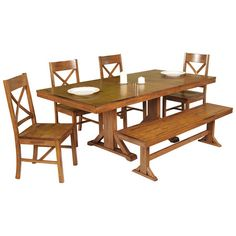 Found it at Wayfair - Millwright 6 Piece Dining Set in Antique Brown - only $800 with free shipping