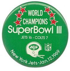 Jets 16 - Colts 7, 1969 Superbowl Champion #NY JETS