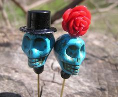 The Original Day of the Dead Hair Pins by donnaelizabethdesign, $17.99