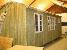 Fru Pedersens have: Sådan byggede vi skurvognen til haven. Shepherds Hut, Shed, Outdoor Structures, Loft, Living Room, Architecture, Inspiration, Studio Ideas, Caravans