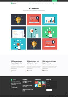 Show off your amazing portfolio with Optimize WordPress theme!  #wordpress #theme #webdesign #design #seo #marketing #digitalmarketing #marketingagency #startup #hosting #socialmedia #interactive #analytics #infographic