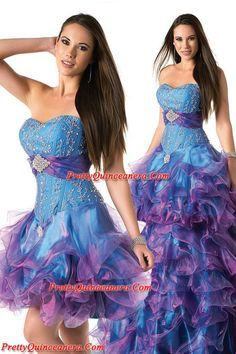 teal and purple - www.prettyquinceanera.com