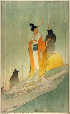 Bertha Lum--Art Nouveau and Japonisme, yes? Reminds me of Tea Fox http://sarah-grey.deviantart.com/