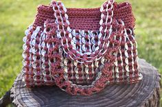 Soda Tab Crochet Purse Patterns | Request a custom order and have something made just for you.