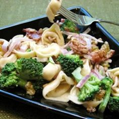 Broccoli and Tortellini Salad - Click image to find more Food & Drink Pinterest pins
