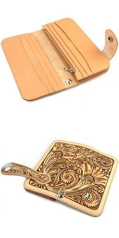 Rakuten: Wallet men gap Dis long wallet long wallet leather leather KC,s Kay chinquapin : Arizona floral riders wallet craft- Shopping Japanese products from Japan