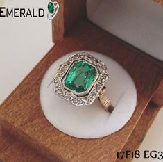 Express your love with this beautiful emerald ring.