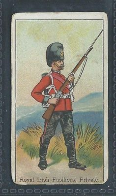 AMERICAN TOBACCO MILITARY ATC UNIFORMS D ROYAL IRISH FUSILIERS PRIVATE in Collectables, Cigarette/ Tea/ Gum Cards, Cigarette Cards | eBay