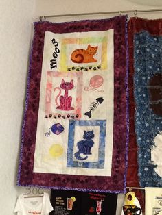 Beautiful cat quilt made by Peggy Coriale