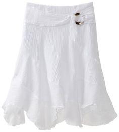 Amy Byer Girls 7-16 Gauze Side Buckle Skirt, White, Medium. From #Amy Byer. List Price: $36.00. Price: $21.54