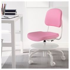 IKEA - VIMUND Child's desk chair pink
