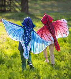 Polyester Dragon Wings For Kids' Dress Up Imaginative Play, Wingspan, Inferno Red - Hearthsong Little Dragon, Red Dragon, Dragon Anatomy, Kids Dress Up, Imaginative Play, Frost, 3 D, Halloween Costumes, Halloween Halloween