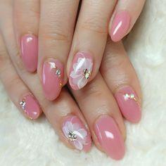 Asian Nails, Exotic Nails, Pink Acrylic Nails, Pink Nails, Nail Art Hacks, Gel Nail Art, Trendy Nails, Cute Nails, Acrylic Nail Designs