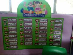Asistencia Work Bulletin Boards, Vocabulary Cards, Kids Calendar, Language Activities, Preschool Crafts, Classroom Decor, Art For Kids, Education, Learning